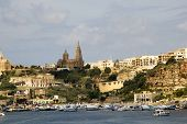 foto of mosk  - ancient architecture of gozo island in malta - JPG