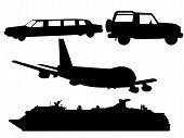 Transportation Silhouettes