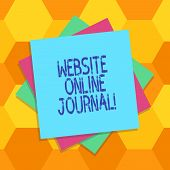 Handwriting Text Website Online Journal. Concept Meaning Periodical Publication Published In Electro poster