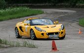 DMITROV, RUSSIA - JUNE 13: A unidentified participant in Lotus Exige in the first Championship 'Rus