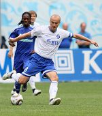 MOSCOW - JULY 3: Dinamo's midfielder Dmitry Hohlov (front) in the VTB Lev Yashin Cup: FC Dynamo Mosc