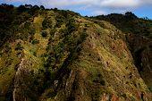 Montanhas da ilha da Madeira no da Paul Serra, Portugal