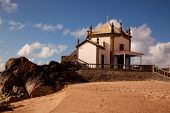 Senhor da Pedra chapel at the beach of Miramar, Gaia, Portugal