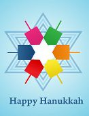 vector illustration of Hanukkah