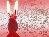Red Burning Embraced Candles