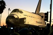 Shuttle Endeavor in Los Angeles