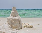 A Sandcastle on a Florida Beach