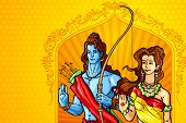 image of sita  - vector illustration of Lord Rama and Sita - JPG