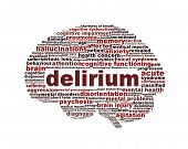 stock photo of hallucinations  - Delirium syndrome mental health icon design - JPG