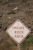 Unsafe Rock Area