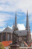 Old church in Delft