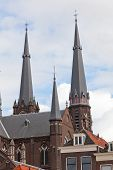 Old church in Delft