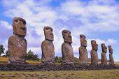 Seven moai platform