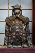 TAKAYAMA, JAPAN - MARCH 26: Vintage ninja suit in Takayama, Japan on March 26, 2012. Well preserved