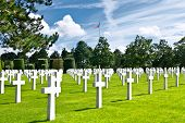 foto of ww2  - American War Cemetery at Omaha Beach Normandy  - JPG