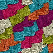 Lace and frills  hand drawn seamless pattern