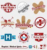Vintage Hospital and Medical Labels