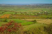 View from Brent Knoll Somerset England