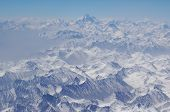 image of karakoram  - aerial view of Karakoram mountains of Sinkiang China you can see frozen peaks and deep valley - JPG