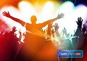 Dancing people. Concert crowd