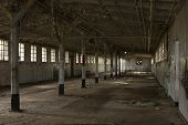 Dining Hall In Abandoned Jail
