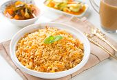 stock photo of biryani  - Indian vegetarian food - JPG
