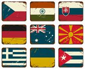 Vintage Metal Flags