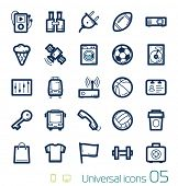 Universal icons set Perfect lines 05