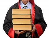 Judge Carrying Law Books