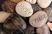 Hope and Trust Stones.