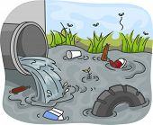 Illustration of Industrial Wastes resulting to Water Pollution