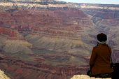 Woman And Grand Canyon