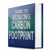 picture of carbon-footprint  - Illustration depicting a text book with a carbon footprint concept title - JPG