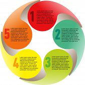 picture of spherical  - Creative list disc element colorful colored color infographic - JPG