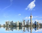 Lujiazui Finance  &trade Zone Of Shanghai Skyline At New Attractions Landscape