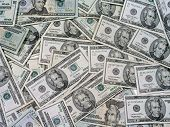 stock photo of twenty dollar bill  - pile of twenty dollar bills - JPG