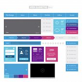 Flat Colorful Web Elements