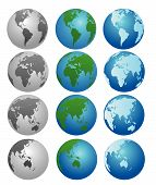 Globes In Different Colors