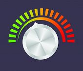 foto of musical scale  - Volume button  - JPG