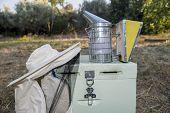 Equipo de la apicultura