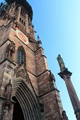 FREIBURG IM BREISGAU, GERMANY - DECEMBER 19, 2012: Freiburg Cathedral