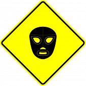 signo de máscara de lucha libre mexicana