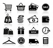 stock photo of trolley  - Shopping Icons - JPG