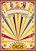 circus.  A retro circus background for a poster with a grunge texture