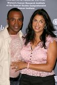 Sugar Ray Leonard and wife Bernadette  at the 4th Annual Pink Party. Santa Monica Airport, Santa Mon