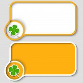 Two Yellow Text Frame And Cloverleaf