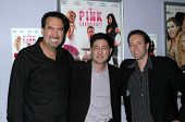 Brian Scott Miller with Gregory Hatanaka and Marc Clebanoff  at the Los Angeles Screening of 'The Pink Conspiracy'. Laemmle Grande 4-Plex, Los Angeles, CA. 09-20-08