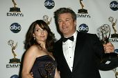 Tina Fey and Alec Baldwin  in the press room at the 60th Annual Primetime Emmy Awards. Nokia Theater