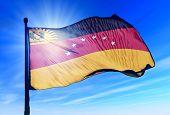 Miranda (Venezuela) flag waving on the wind