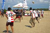 Rugby 5's Played On The Beach